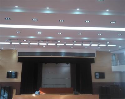 山西临县高级中学报告厅舞台视频显示、舞台灯光音响、舞台机械系统 以及展览厅背景音乐、灯光系统插图(1)