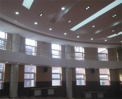 山西临县高级中学报告厅舞台视频显示、舞台灯光音响、舞台机械系统 以及展览厅背景音乐、灯光系统插图