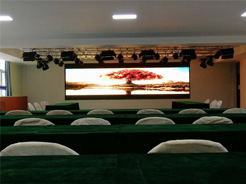 石家庄职业技术学院~实训礼仪教室的专业舞台灯光、音响、LED全彩屏、数字影音系统及弱电综合布线等项目插图