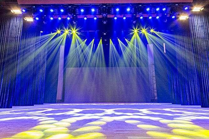 北京海辰瑞安多能厅舞台灯光、机械及扩声插图